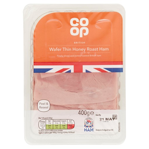 Picture of Co-op British Wafer Thin Honey Roast Ham 400g