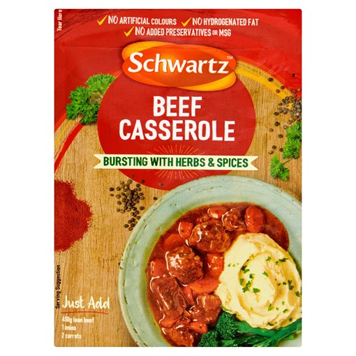 Picture of Schwartz Beef Casserole Recipe Mix 43g