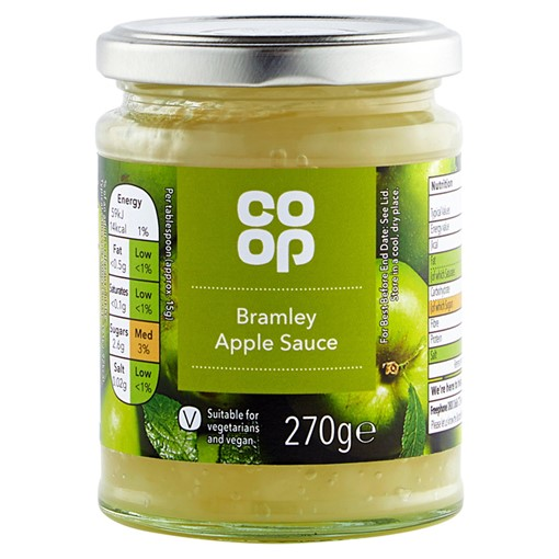 Picture of Co Op Bramley Apple Sauce 270g