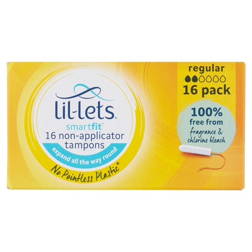 Picture of Lil-Lets Smartfit 16 Non-Applicator Tampons Regular