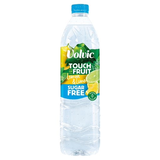 Picture of Volvic Touch of Fruit Sugar Free Lemon & Lime Natural Flavoured Water 1.5L