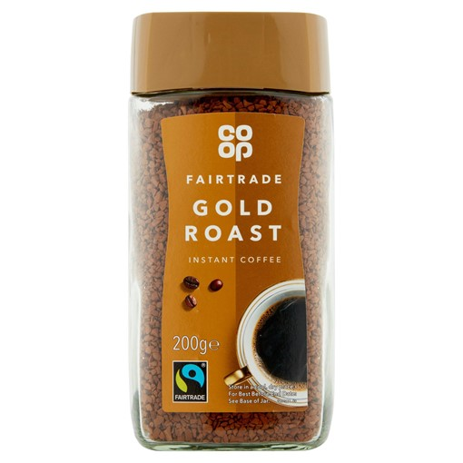 Picture of Co Op Fairtrade Gold Roast Instant Coffee 200g