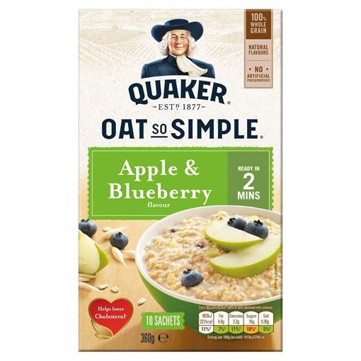 Picture of Quaker Oat So Simple Apple & Blueberry Porridge 10x36g
