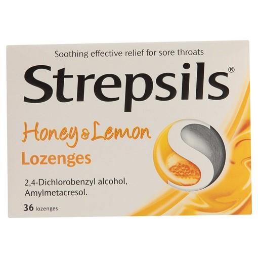 Picture of Strepsils Honey & Lemon Lozenges, Pack of 36