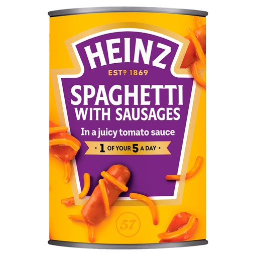 Picture of Heinz Spaghetti & Sausages 400g