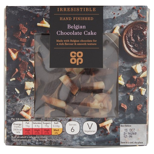 Picture of Co-op Irresistible Hand Finished Belgian Chocolate Cake