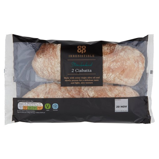 Picture of Co Op Irresistible Hand Shaped 2 Ciabattas