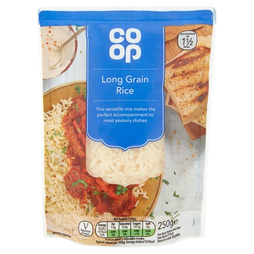 Picture of Co-op Microwave Long Grain Rice 250g