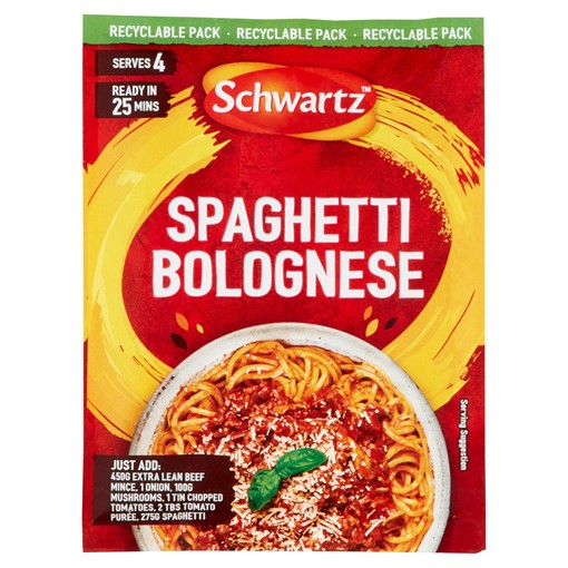 Picture of Schwartz Spaghetti Bolognese Recipe Mix 40g