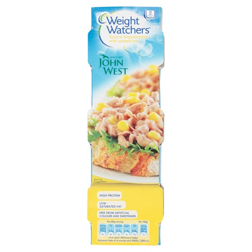 Picture of Weight Watchers Tuna in Mayonnaise with Sweetcorn 3 x 80g
