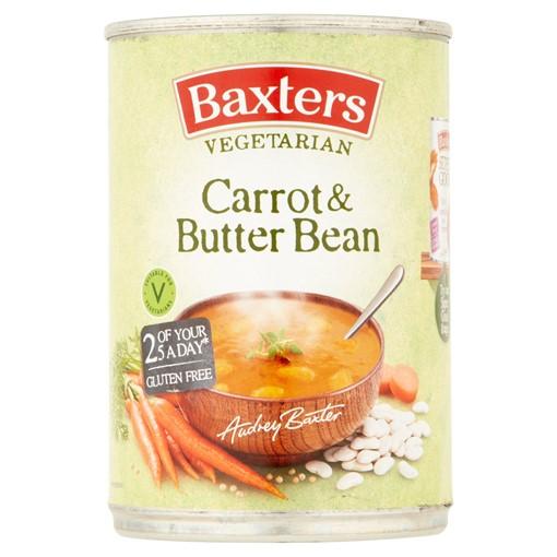 Picture of Baxters Vegetarian Carrot & Butter Bean 400g