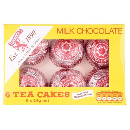 Picture of Tunnock's Milk Chocolate Tea Cakes 6 x 24g