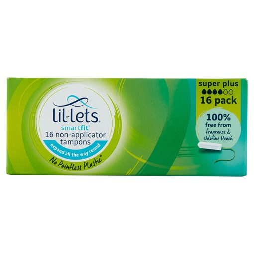 Picture of Lil-Lets Smartfit 16 Non-Applicator Tampons Super Plus
