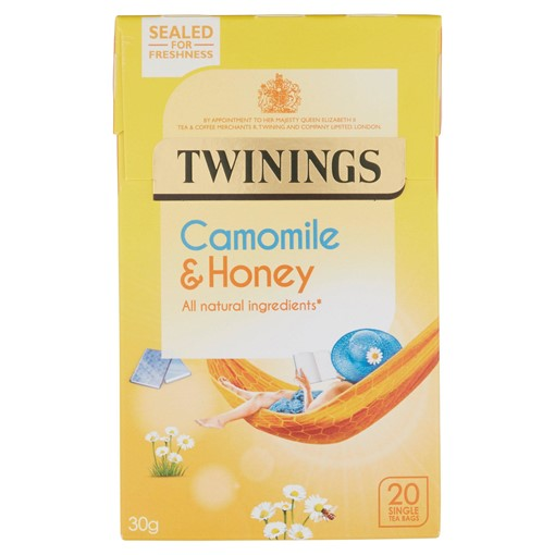Picture of Twinings Camomile & Honey 20 Single Tea Bags 30g