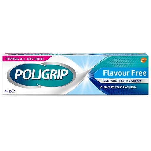 Picture of Poligrip Cream Flavour Free Denture Fixative 40g