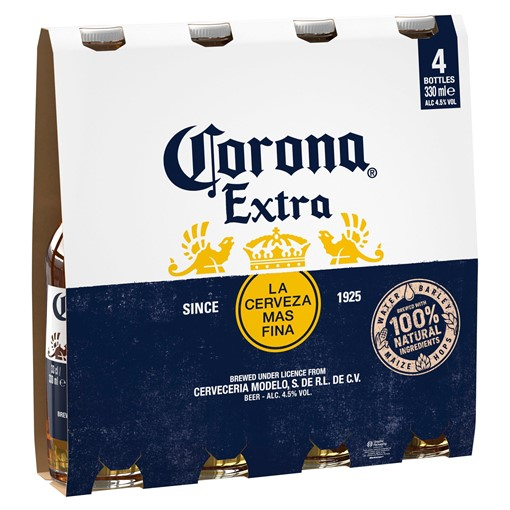 Picture of Corona Lager Beer Bottles 4 x 330ml