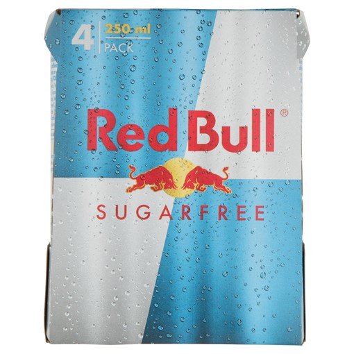 Picture of Red Bull Energy Drink, Sugar Free, 250ml (4 Pack)
