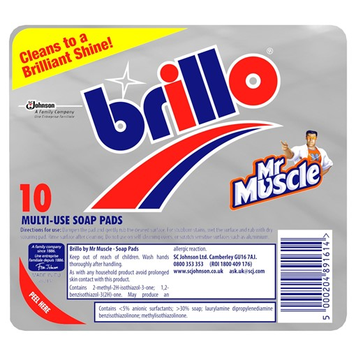 Picture of Brillo Multi-Use Soap Pads 10 Pads