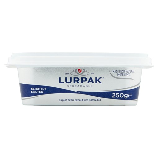 Picture of Lurpak Slightly Salted Spreadable Blend of Butter and Rapeseed Oil 250g