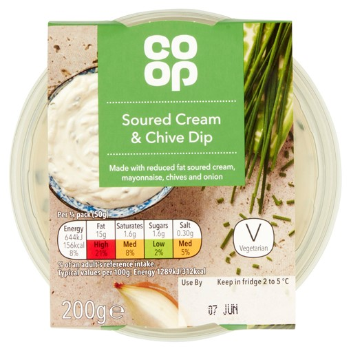 Picture of Co Op Soured Cream & Chive Dip 200g