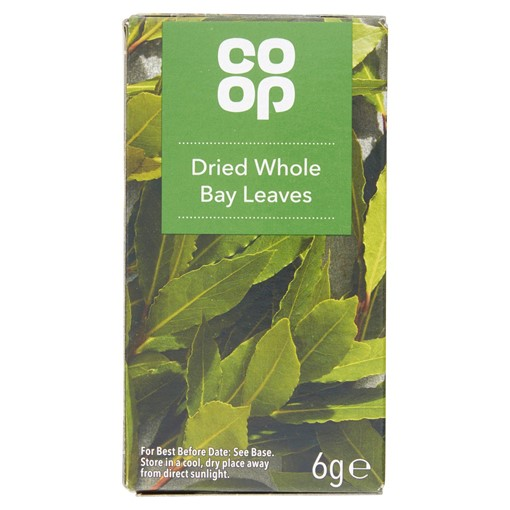 Picture of Co-op Dried Whole Bay Leaves 6g