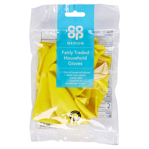 Picture of Co Op Medium Fairly Traded Household Gloves