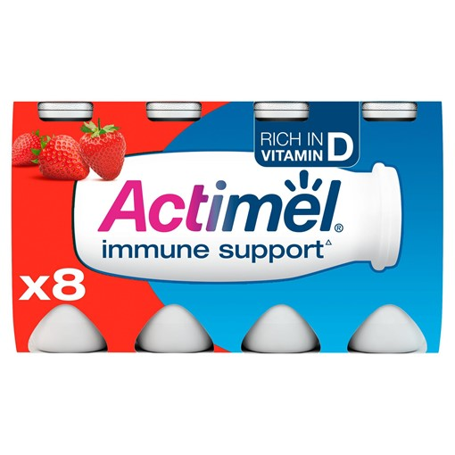 Picture of Actimel Strawberry Yogurt Drink 8 x 100g (800g)