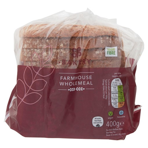 Picture of Co-op Bakery Farmhouse Wholemeal 400g