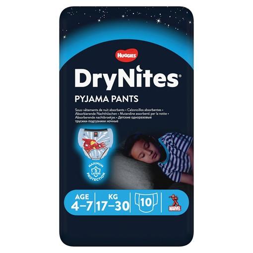 Picture of Huggies® DryNites®, Pyjama Pants, Boy, 4-7 Years (17-30kgs), 10 Pants