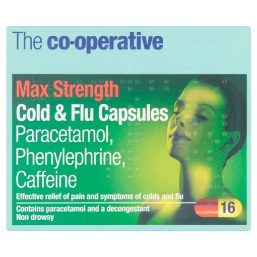 Picture of The Co-operative Max Strength Cold & Flu Capsules 16 Capsules