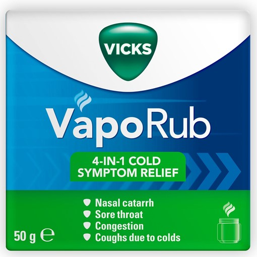 Picture of Vicks VapoRub relief of cough cold & flu like symptoms Jar 50g