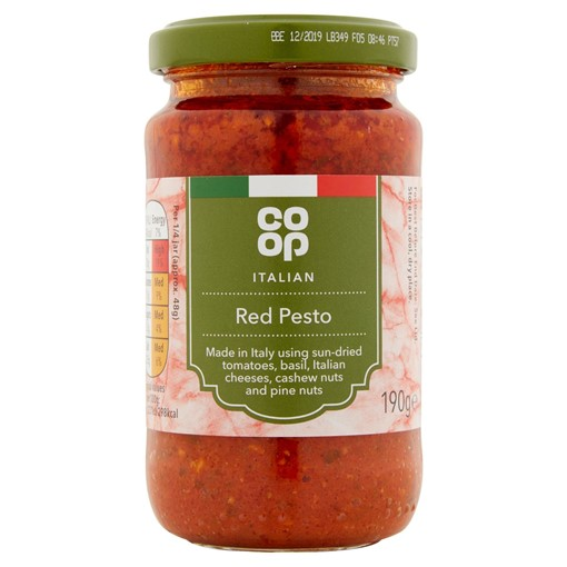 Picture of Co Op Italian Red Pesto 190g