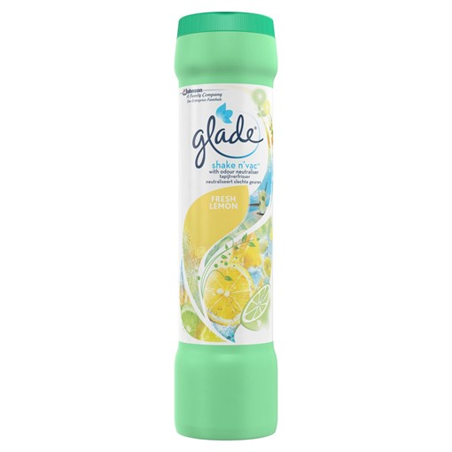 Picture of Glade Shake & Vac Carpet Freshener Fresh Lemon 500g