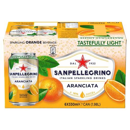 Picture of San Pellegrino Orange 6x330ml