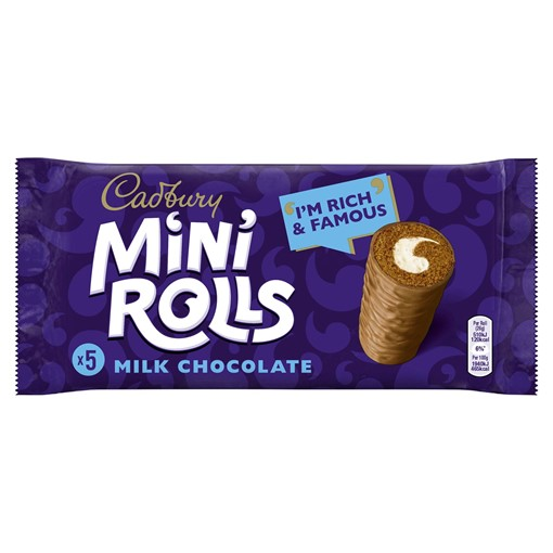 Picture of Cadbury Milk Chocolate Mini Rolls x 5
