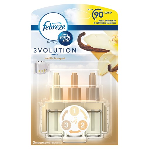 Picture of Febreze With Ambi Pur 3Volution Air Freshener Plug-In Refill Vanilla Bouquet 20 ML