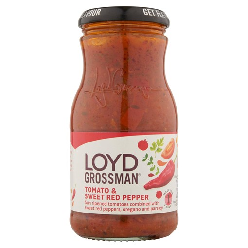 Picture of Loyd Grossman Tomato & Sweet Red Pepper Pasta Sauce 350g