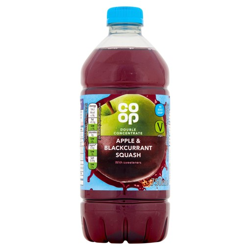 Picture of Co-op Apple & Blackcurrant Squash 750ml
