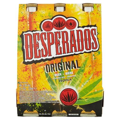 Picture of Desperados Tequila Lager Beer 3 x 330ml Bottles