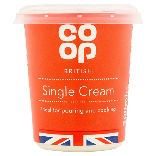 Picture of Co Op British Single Cream 300ml