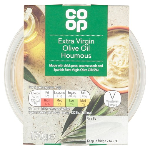 Picture of Co Op Extra Virgin Olive Oil Houmous 170g