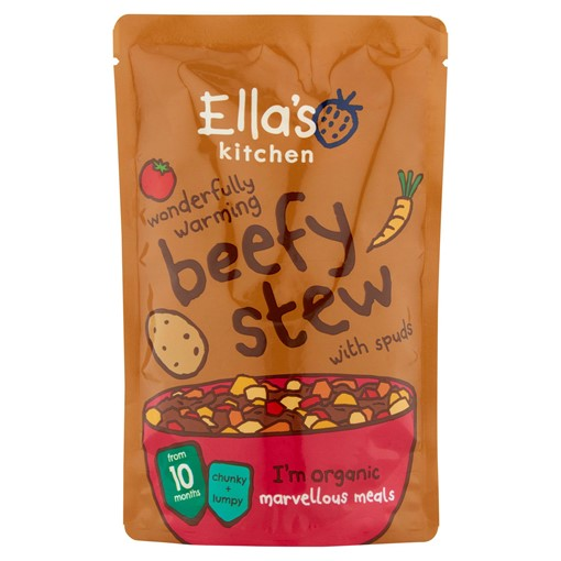 Picture of Ella's Kitchen Organic Beef Stew with Spuds Pouch 10+ Months 190g