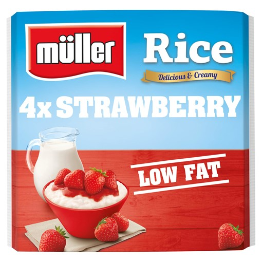 Picture of Müller Rice Strawberry 4 x 180g (720g)