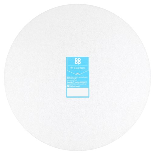 """Picture of Co Op 10"""" Cake Board"""