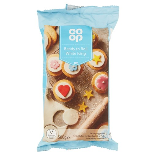 Picture of Co Op Ready to Roll White Icing 500g
