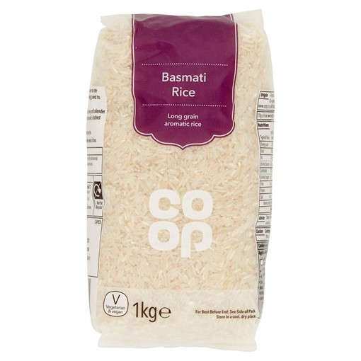 Picture of Co Op Basmati Rice 1kg