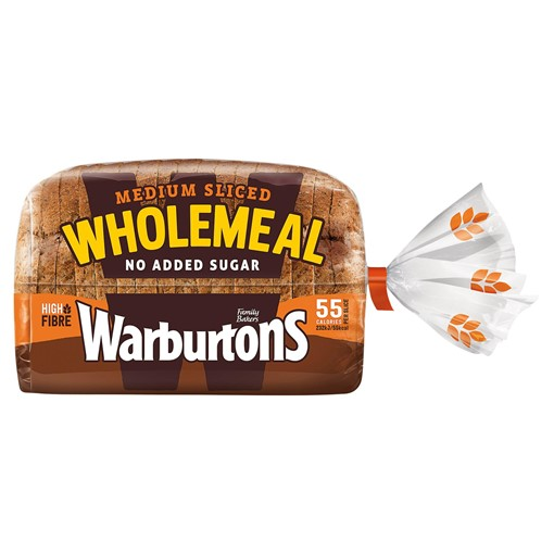 Picture of Warburtons Medium Sliced Wholemeal 400g