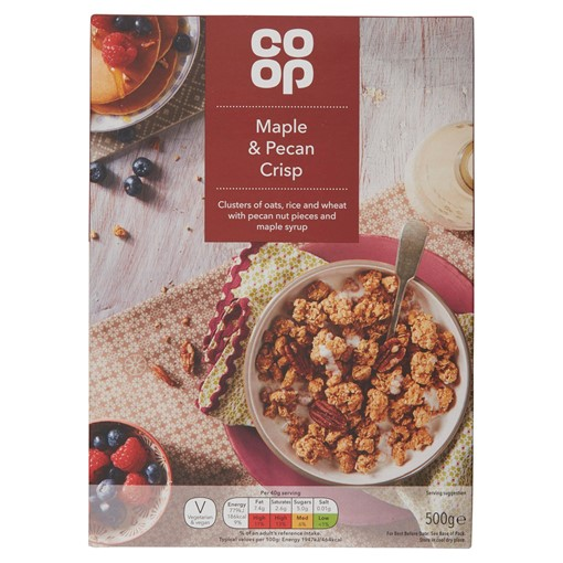 Picture of Co Op Maple & Pecan Crisp 500g