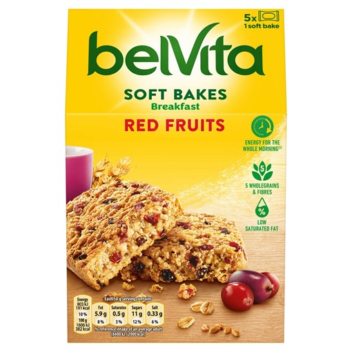 Picture of Belvita Breakfast Biscuits Soft Bakes Red Berries 250g