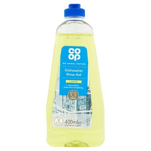 Picture of Co-op Dishwasher Rinse Aid Lemon 400ml